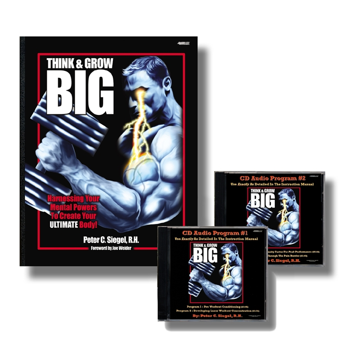 Thinkand Grow Big bodybuilding sports hypnotherapy hypnosis book by Peter Siegel
