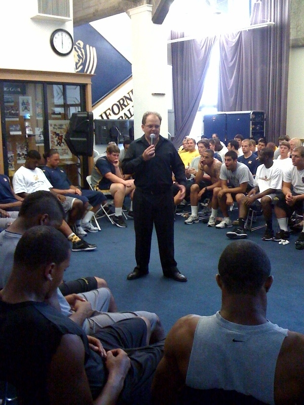football sports hypnotherapist chris cady hypnotizes football team