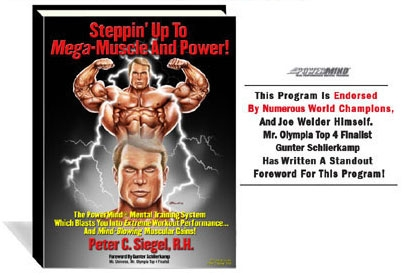 peter siegel sports hypnotherpaist bodybuilding book steppin up to mega muscle and power